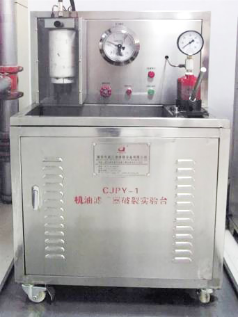 Assembly static pressure burst test bench