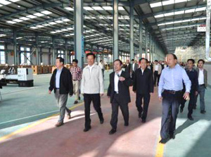 Leaders of Xingtai City, Hebei Province visited the compay.